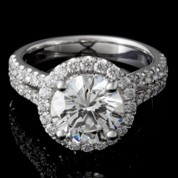 Custom 1.60 Round Brilliant Diamond Engagement Ring