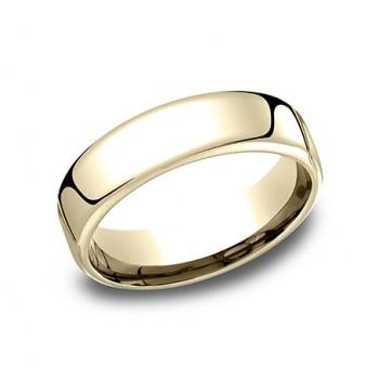 Men's Wedding Band 6.50 MM 14k Yellow Gold