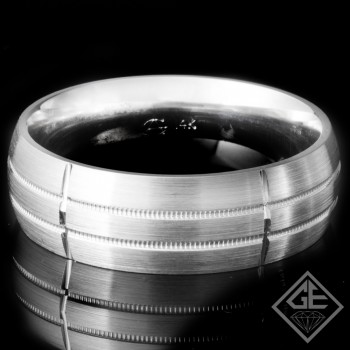 Men's Wedding Band 7 mm 14k White Gold
