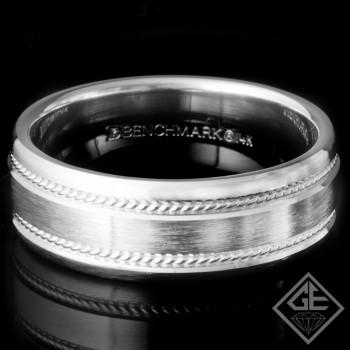 7.50 MM 10.40 Grams 14k White Gold Men's Wedding Band