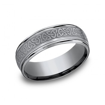 Men's 7MM Tantalum Wedding Band